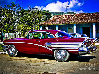 Photograph - '58 Buick Classic American Car In Cuba by Carlos Alkmin