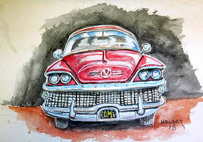 Painting - 58 Buick by Steven Holder