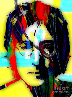Rock Art Mixed Media - John Lennon Collection by Marvin Blaine