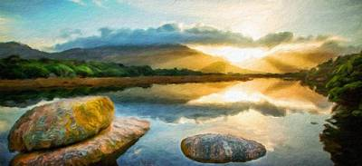 Nature Painting - Landscape Nature by Margaret J Rocha