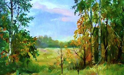 Spring Painting - Nature Landscape Paintings by Edna Wallen