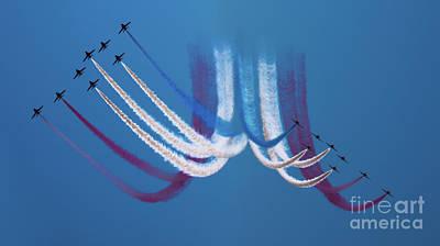 Photograph - Red Arrows by Angel Ciesniarska
