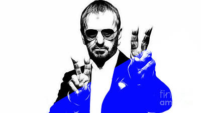 Starr Mixed Media - Ringo Starr Collection by Marvin Blaine