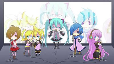 Artwork Digital Art - Vocaloid by Maye Loeser