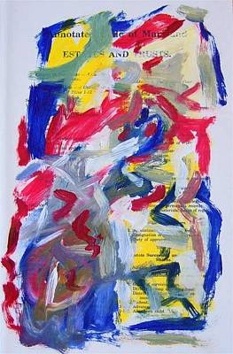 Abstract On Paper No. 26 Art Print by Michael Henderson