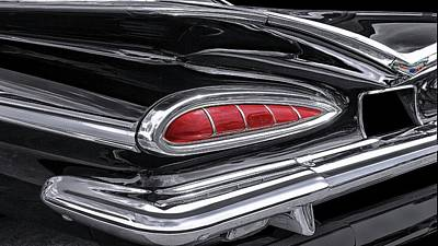 Photograph - 59 Chevy Tail Light Detail by Gary Warnimont