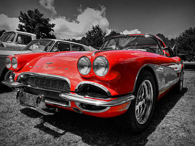 Photograph - '59 Corvette 001 by Lance Vaughn