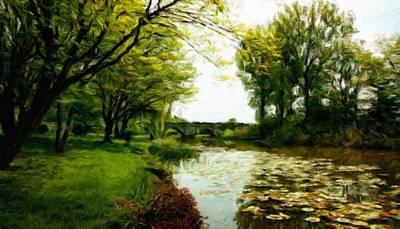 Bob Painting - Nature Landscapes Prints by Margaret J Rocha