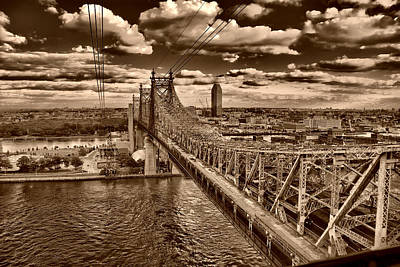 Photograph - 59 Street Bridge Sepia 1 by Val Black Russian Tourchin