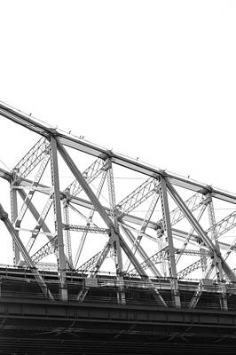 Metal Photograph - 59th Street Bridge, Black And White by Sandy Taylor