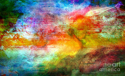 5a Abstract Expressionism Digital Painting Art Print