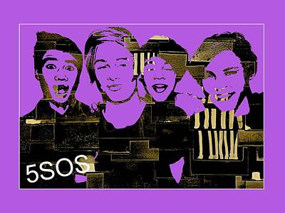 Michael Mixed Media - 5sos Collection by Marvin Blaine