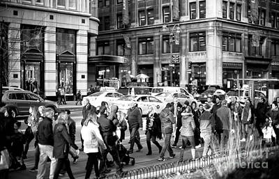 Photograph - 5th Avenue Crowds by John Rizzuto