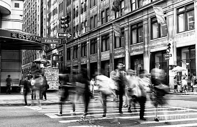 Photograph - 5th Avenue Motion by John Rizzuto