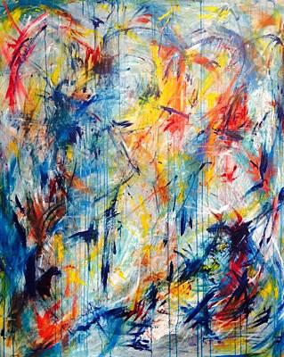 Painting - 5th Chakra Meditation  by Marita Esteva
