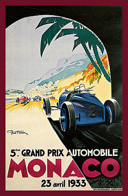 Painting - 5th Grand Prix De Monaco by Geo Ham