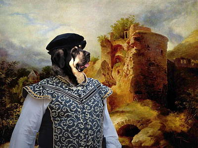 Painting -  Spanish Mastiff - Mastin Espanol Art Canvas Print by Sandra Sij