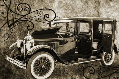 Photograph - 1924 Buick Duchess Antique Vintage Photograph Fine Art Prints 105 by M K  Miller