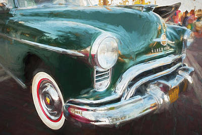 Photograph - 1950 Oldsmobile 88 Futurmatic Coupe Bw   by Rich Franco