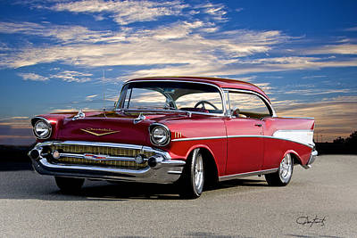 Scifi Portrait Collection - 1957 Chevrolet Bel Air Hardtop by Dave Koontz