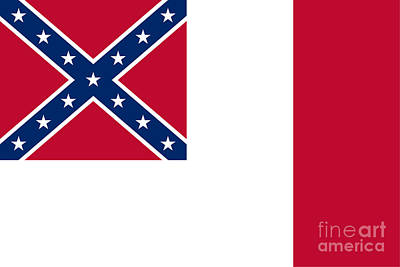 3d Confederate Flag Art Print by Frederick Holiday