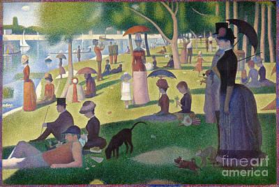 La Grande Jatte Painting - A Sunday On La Grande Jatte by Celestial Images
