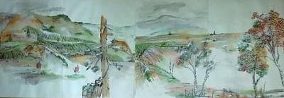a trip to Lewiston in Autumn album  Art Print