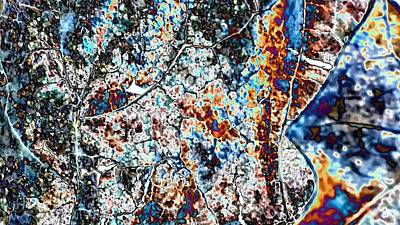 Brass Leafs Digital Art - Abstract  by Belinda Cox