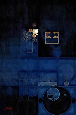 Feelings Digital Art - Abstract Painting - Sapphire by Vitaliy Gladkiy
