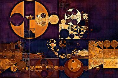Rectangles Digital Art - Abstract Painting - Seal Brown by Vitaliy Gladkiy
