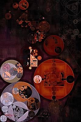 Abstract Painting - Smoky Black Art Print by Vitaliy Gladkiy