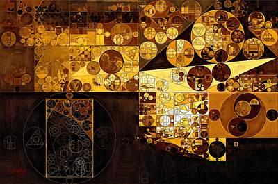 Fanciful Digital Art - Abstract Painting - Zinnwaldite Brown by Vitaliy Gladkiy