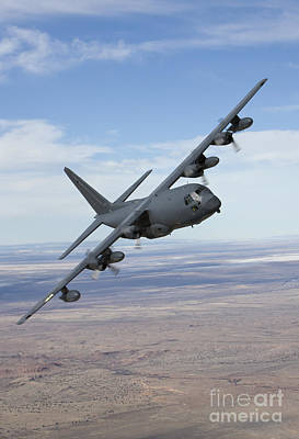 Special Operations Photograph - An Mc-130 Aircraft Manuevers by HIGH-G Productions