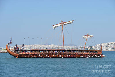 Travel Photograph - Ancient Trireme by George Atsametakis