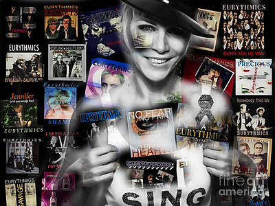 Annie Lennox Mixed Media - Annie Lennox Collection by Marvin Blaine
