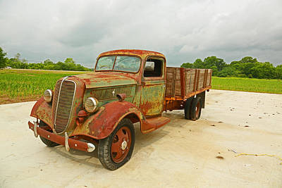 Photograph - Antique Truck by Ronald Olivier