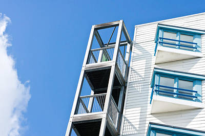 Residential Structure Photograph - Apartments by Tom Gowanlock