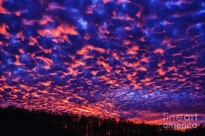 Print featuring the photograph Appalachian Sunset Afterglow by Thomas R Fletcher