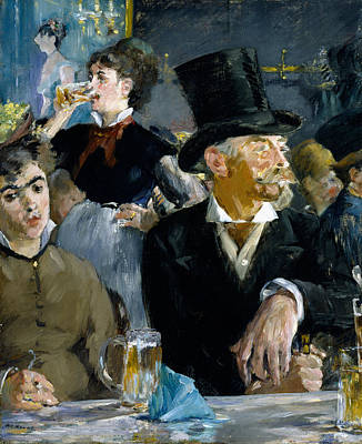 Cigarette Painting - At The Cafe by Edouard Manet
