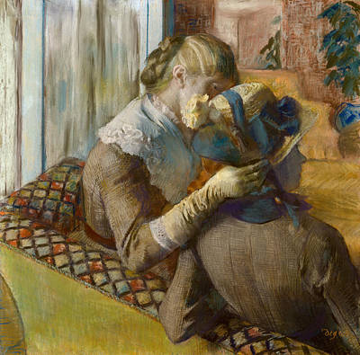 Degas Pastel -  At The Milliner's by Edgar Degas