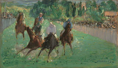 Painting - At The Races by Edouard Manet