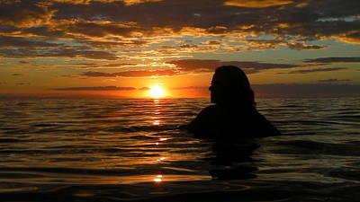 Australia - Sun Sets On Mermaid Original by Jeffrey Shaw