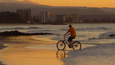 Photograph - Australia - Bicycle On The Beach by Jeffrey Shaw