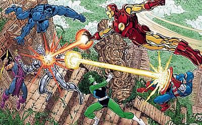 Avengers The Art Print by Egor Vysockiy