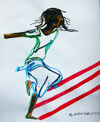 Kabala Painting - Bakiga Dance - Uganda by Gloria Ssali