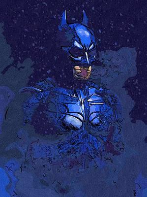 Batman Digital Art - Batman Black Print by Egor Vysockiy