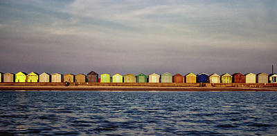 Shed Photograph - Beach Huts by Martin Newman