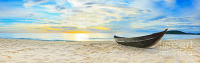 Oars Photograph - Beach Panorama by MotHaiBaPhoto Prints
