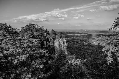 Sugar Skulls - Beautiful Aerial Landscape Views From Crowders Mountain Near Gas by Alex Grichenko