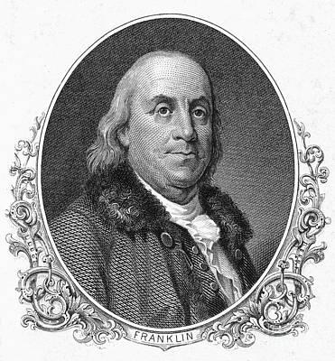 Photograph - Benjamin Franklin (1706-1790) by Granger